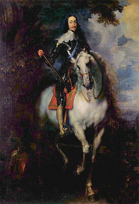 Nice Oil Anthony van Dyck - Equestrian Portrait of Charles I, King of England