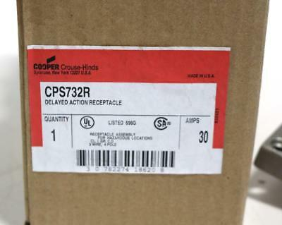 Crouse-Hinds CPS732R Delayed Action Arktite Receptacle, New