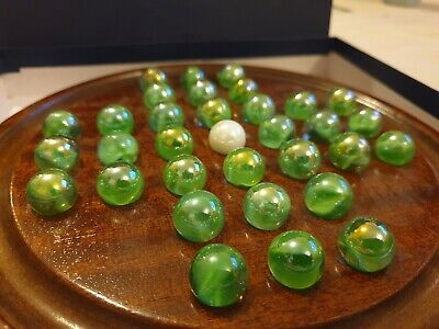 HOUSE OF MARBLES WOODEN SOLITAIRE BOARD game
