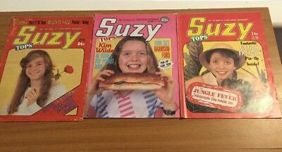 3 Vintage Girl Suzy Comics From 1984