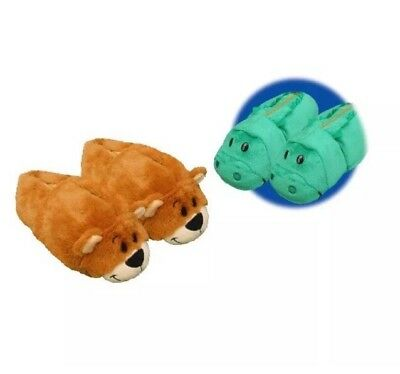 419f05605570 FlipaZoo Flip A Zoo Alligator-Grizzly Bear Slippers Shoes Size Med 12-13