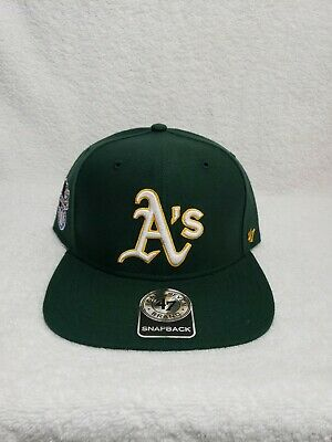 huge discount aab7f b7e7b Oakland Athletics Snapback Hat Cap 47 Brand Green 9FIFTY MLB A s Bay  American