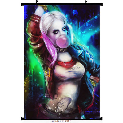 Harley Quinn Suicide Squad Batman Home Decor Anime Japanese Poster Wall Scroll Home Decor