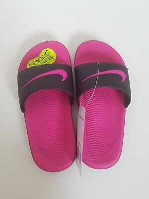 4f6d9ef2a NEW GIRL S NIKE Kawa Slide Sandals in Black Vivid Pink -  19.97 ...