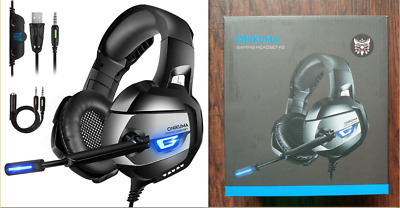 ONIKUMA 7.1Stereo Gaming Headset PS4,Xbox One,PC,Vol Control MAC laptop Noise Ca