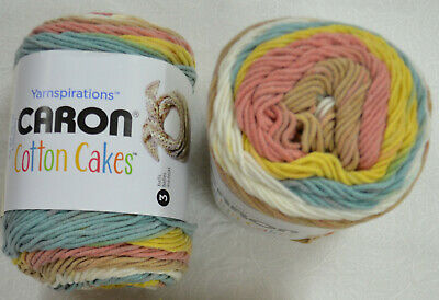 CARON COTTON CAKES, Medium Weight Cotton Blend Yarn, 100g Ball , Various