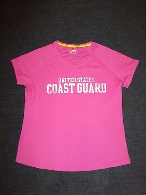 137e84c1d9c Under Armour women's pink United States Coast Guard short-sleeved t-shirt  ...