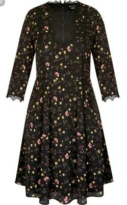 city chic dress dreamy ditsy in xs and large
