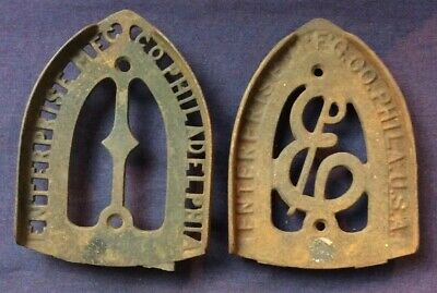 Two Used Enterprise MFG Co Cast Iron Trivets Rusty 6 X 4.5 Approximately