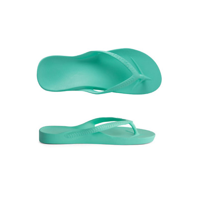 Womens Archies High Arch Support Thongs Mint Sandal Flip Flop