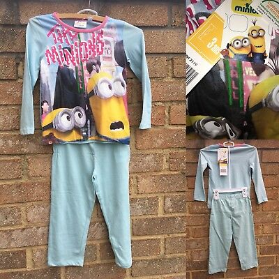 Despicable Me Minions Girls 3 Years Pyjamas Set Cotton Top & Bottoms Sleepwear
