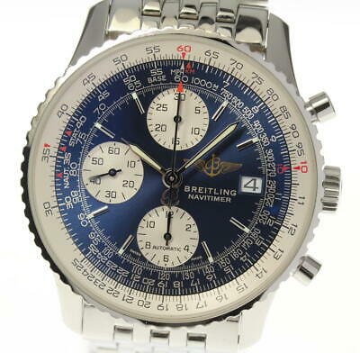 BREITLING Old Navitimer A13322 Blue Dial Automatic Men's Watch_471805