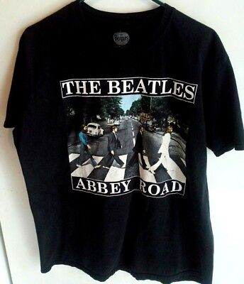 The Beatles Black  Cotton T shirt size  X Large  Abbey Road