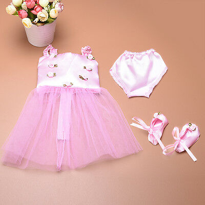 Cute Doll Clothes Ballet Ballerina Outfit Fit Girl Other 18 Inch Dolls Low Price