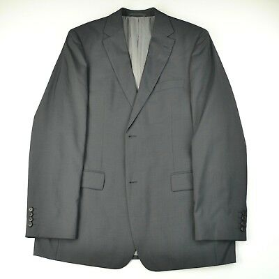 0dd241a8a Hugo Boss Recent Pasolini/Movie Gray Wool Silk Textured Dual Vent Suit 42  42L