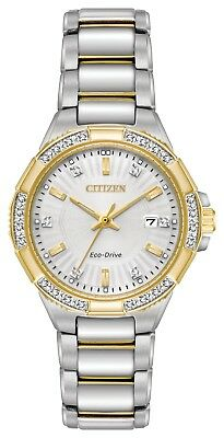 Citizen Eco-Drive Riva Diamond Two Tone Stainless Steel Ladies Watch EW2464-55A