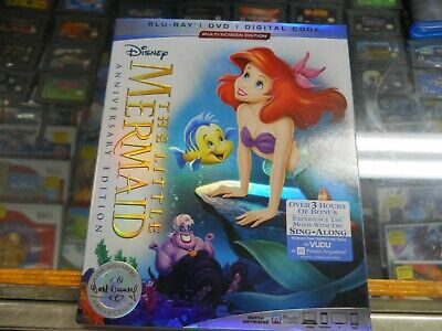 Brand New Sealed THE LITTLE MERMAID (ANNIVERSARY EDITION, BLURAY/DVD/Digital)