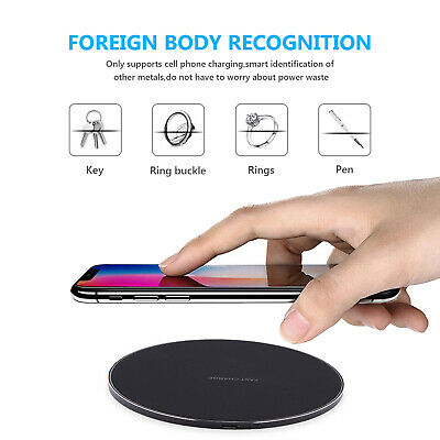 Qi Wireless Charger FAST Charging Pad Receiver For iPhone XS XR 8 Samsung S9 S8