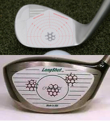 Golf Club Driver Woods Iron Training Aid Sticker Impact Face Tape Recorder Label