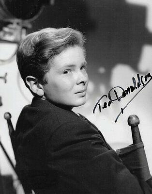 Child Actor TED DONALDSON In-Person Signed Photo - A TREE GROWS IN BROOKLYN Star