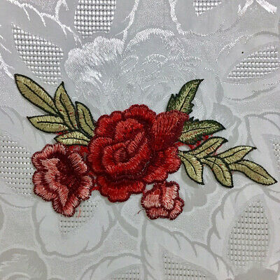 1pc Large Flower Applique Embroidered Sew On Craft Sewing Clothing  #740