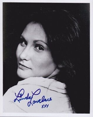 Tragic 1970s Adult Actress LINDA LOVELACE In-Person Signed Photo - DEEPTHROAT