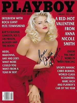 Tragic Playmate ANNA NICOLE SMITH In-Person Signed PLAYBOY Magazine - Died at 39