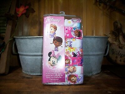 Disney Girls Multi Character Underwear 7 Pack Size 4 Cartoon Minnie Mouse New