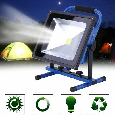 50W IP65 LED Rechargeable Portable Projecteur Lampe de Travail Chantier Torche