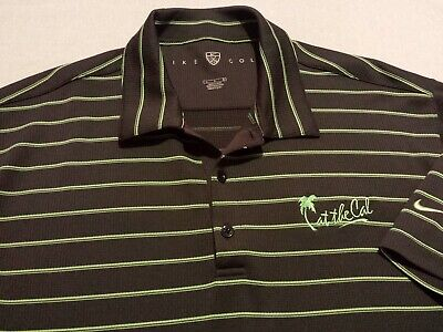 5497d272 Nike Golf Fit Dry Mens Large Short Sleeve Gray Striped Athletic Polo Golf  Shirt