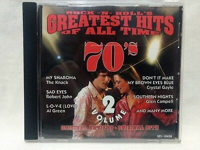Rock N Roll's Greatest Hits Of All Time 70's Volume 2 1995 CEMA           cd6529