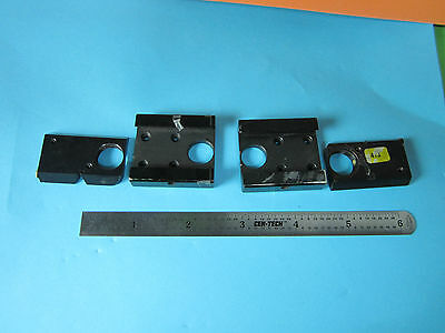 Lot 2 Ea Optical Microscope Part Holders Objective Zeiss Germany Optics Bn#D2-21