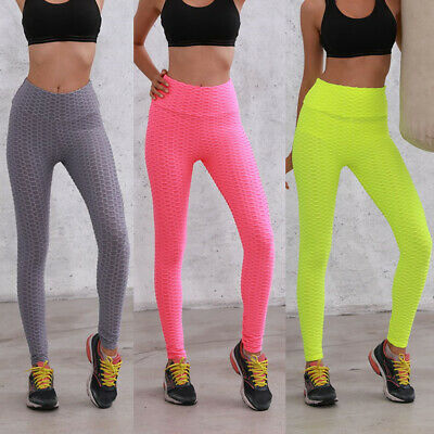 Women's Yoga Pants Push Up Fitness Leggings Sports Scrunch Stretch Trousers