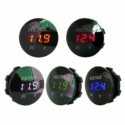 Car Motorcycle LED Panel Digital Voltage Meter Display Voltmeter DC12V-24V