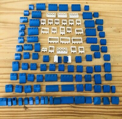 LEGO ROOF 6x12x16 # BLUE # 100 pieces Slopes Tiles 1x2 2x2 # BRAND NEW # house