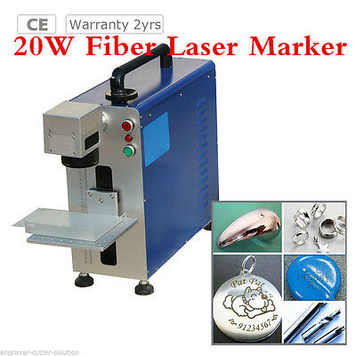 Portable Maxphotonic 20W Fiber Laser Marking and Engraving Machine Ratory Fiture