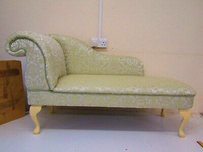 Sale Green Damask Chaise Longue