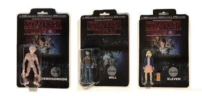 "Stranger Things 3.75"" Figures X 3 Limited Edition Chase Demogorgon Eleven Will"