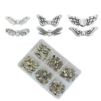 Angel Wing Spacer Beads Tibetan Retro DIY Jewelry Pendant For Jewelry Making