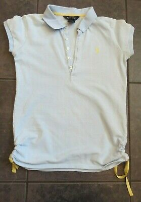 Ralph Lauren Lovely Girls Pale Blue Polo Shirt Age 12-14 Years Great Condition