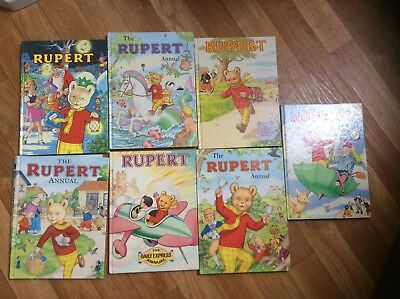 Bundle of 7 Rupert the Bear annuals from 1983 to 2007. Can split if required