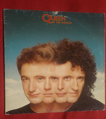 "QUEEN vinyl 1st press LP 12"" THE MIRACLE 1989 Italy"