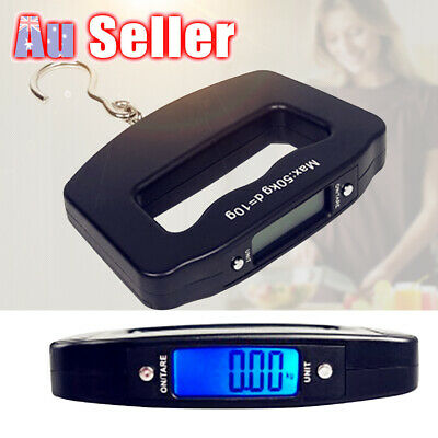 50kg/10g Digital Hanging Weight Travel Luggage LCD Scale Electronic Portable