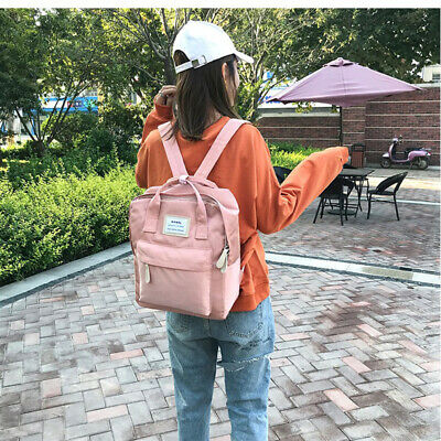 Canvas Student School Large Bags For Teenage Girls Fashion Backpack Female LH