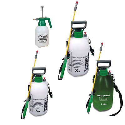 Garden Sprayer Weed Killer 5L Chemical Knapsack Pressure Spray Bottle 1.5,8,5L