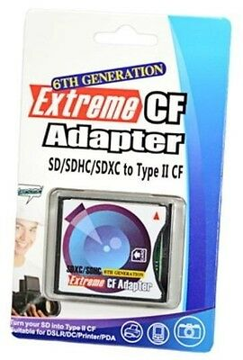 Extreme Speed Compact Flash SD/SDHC/SDXC to Type II CF Adapter - 6Th Generation