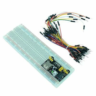 830 Point Solderless PCB Breadboard + 65pcs Jumper Cable + Power Module