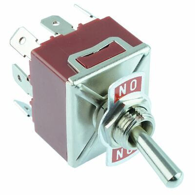 On-On 3PDT Toggle Switch 250V AC 15A 3 Pole