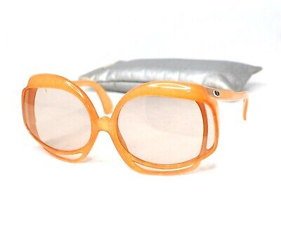 19bf7fe1ff Christian Dior vintage 2026 amber yellow orange oversized sunglasses lady  gaga