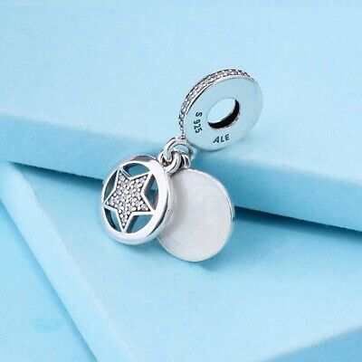 Authentic Pandora Sterling Silver Friendship Star Charm Dangle 792148EN23